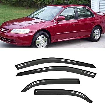 4Pc Set Window Visors Vent Rain Sun Guards for Honda Accord 1998-2002 Sedan Only