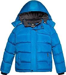 Wantdo Boys Winter Hooded Puffer Fleece Vest Warm Sleeveless Thick Jacket