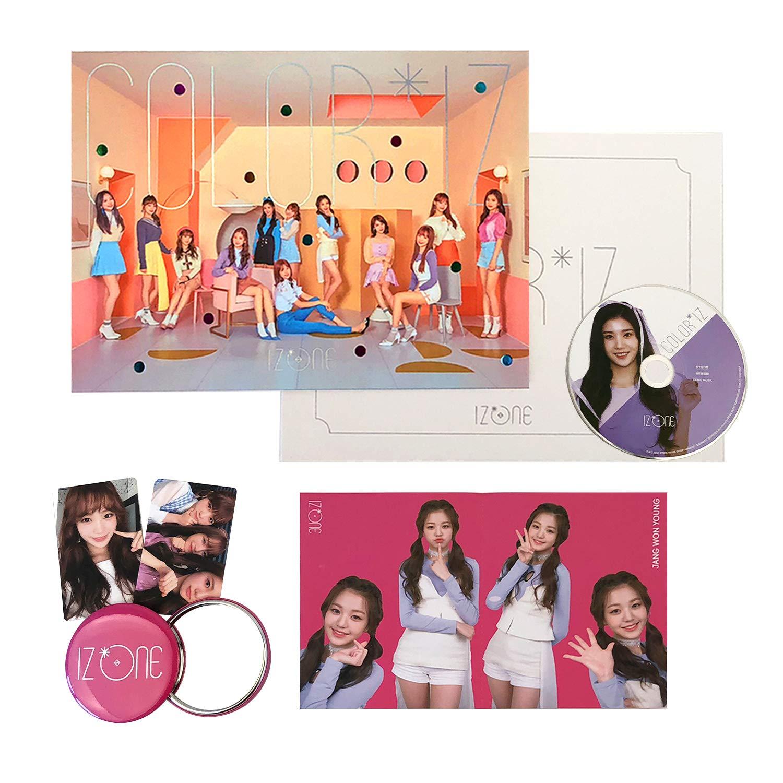 IZONE 1st Mini Album - COLOR*IZ [ COLOR ver  ] CD + Photobook + Folding  Photo Cover + Photocards + Folding Mini Photobook + FREE GIFT / K-pop Sealed
