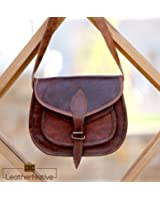 Leather Native Women's Leather Purse Gypsy Bag Crossbody Women Handbag Shoulder Travel Satchel Tote Bag 7x9x3 Inches Brown Pre Valentines Day Special Sale!
