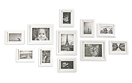 8bcf5cae8c2 Ray   Chow White Photo Picture Gallery Wall Frame Set - Solid Wood- 11  Frames