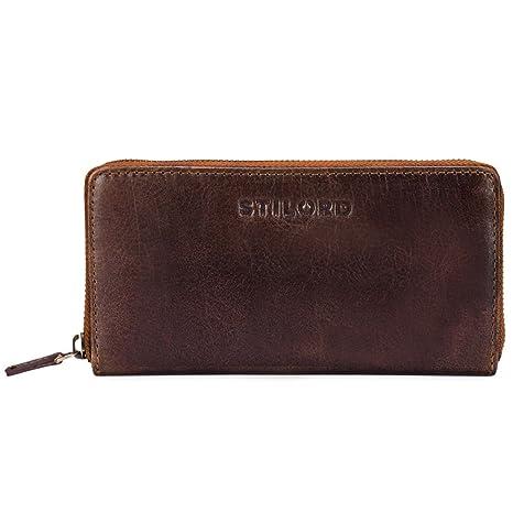 b580da58d1f1d STILORD  Mila  Klassisches Portemonnaie Damen Geldbörse groß mit  Reißverschluss EC-Karten Fächer Quer