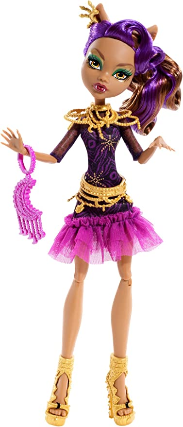 Amazon Com Monster High Frights Camera Action Black Carpet Doll Clawdeen Wolf Toys Games