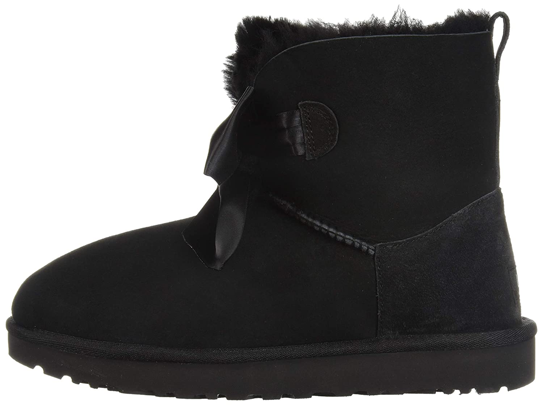61c0c3eeecb UGG Womans - Boots GITA Bow Mini 1098360 - Black, Size:9 UK