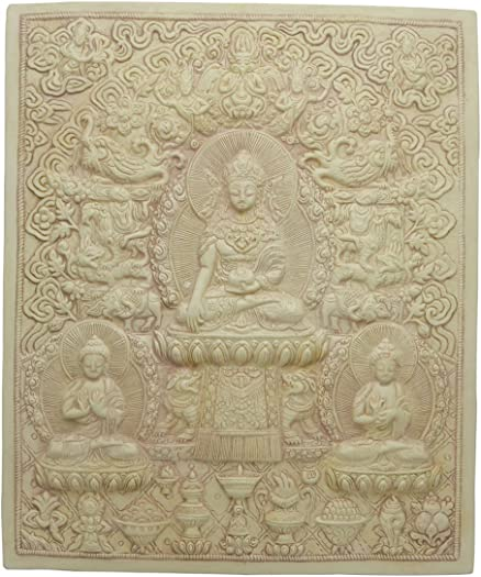 Tibetan Buddhist Relief Plaque