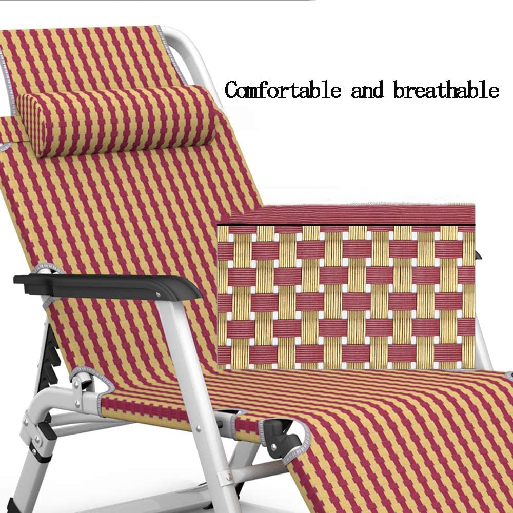 DUWX - Lounge Chair, Portable Office Lunch Break Chair Home Folding Chair Outdoor Beach Chair Beach chair (Color : A) B
