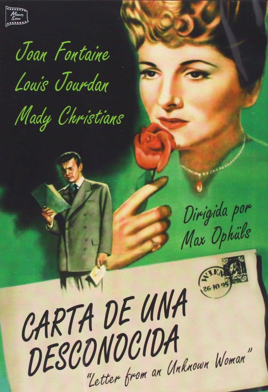 Carta De Una Desconocida [DVD]: Amazon.es: Joan Fontaine ...