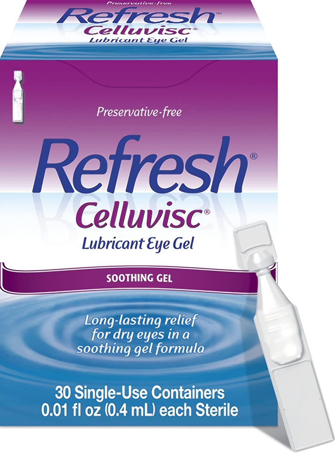 Refresh Celluvisc Lubricant Eye Gel, 30 Count Single-Use Containers
