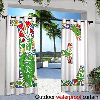 Amazon.com: cobeDecor Letter E Exterior/Outside Curtains ...