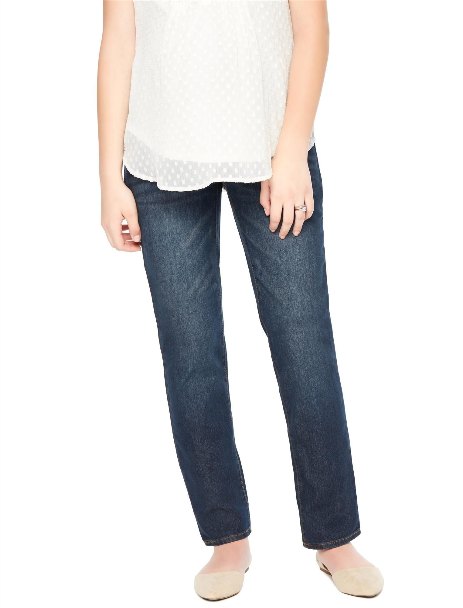 Motherhood Indigo Blue Secret Fit Belly Straight Leg Maternity Jeans