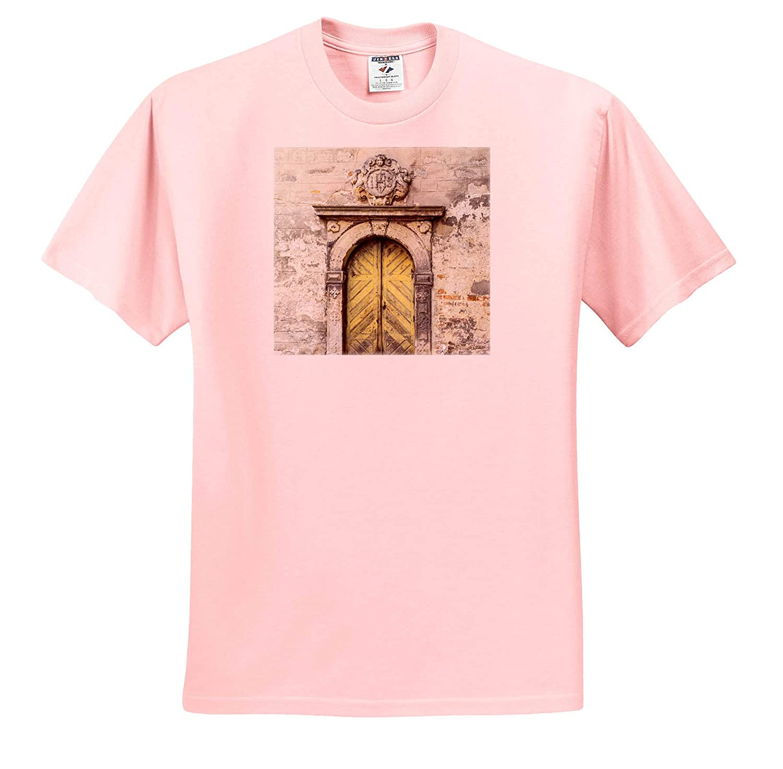 3dRose Danita Delimont Doorway Entrance to a Church Czech Republic Jicin Architecture - Adult T-Shirt XL ts/_313080