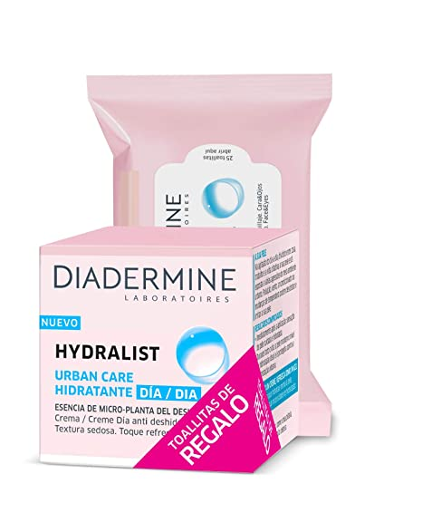 Diadermine - Hydralist crema facial - 50ml + Toallitas desmaquillantes (1 pack)