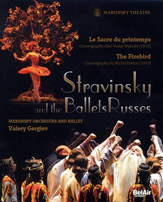 Cover Art for Mariinsky Ballet's Performance of Stravinsky's The Firebird and The Rite of Spring