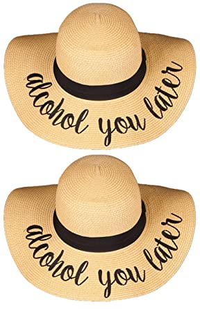 9020538734bb4 Amazon.com  H-2017-BUNDLE-AYLx2 Embroidered Sun Hat 2 Pack - Alcohol ...
