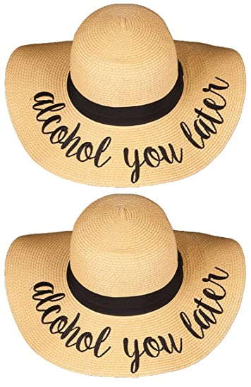 Amazon.com  H-2017-BUNDLE-AYLx2 Embroidered Sun Hat 2 Pack - Alcohol ... ee1389801dd