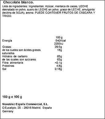 Milka - Tableta de chocolate blanco (paquete de 11 unidades): Amazon.es: Alimentación y bebidas