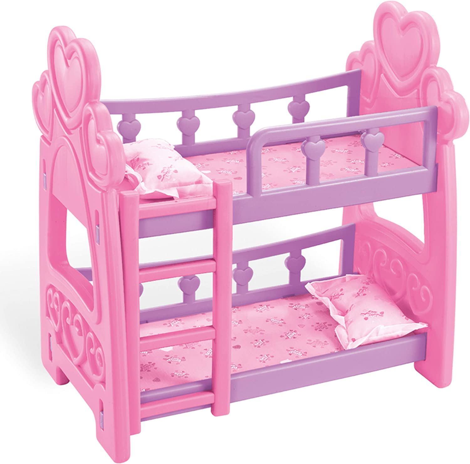 JOYIN Cute Baby Dolls Bunk Bed Set Furniture Toys for Kids and Toddlers Toys Including Ladder and Two Pillows