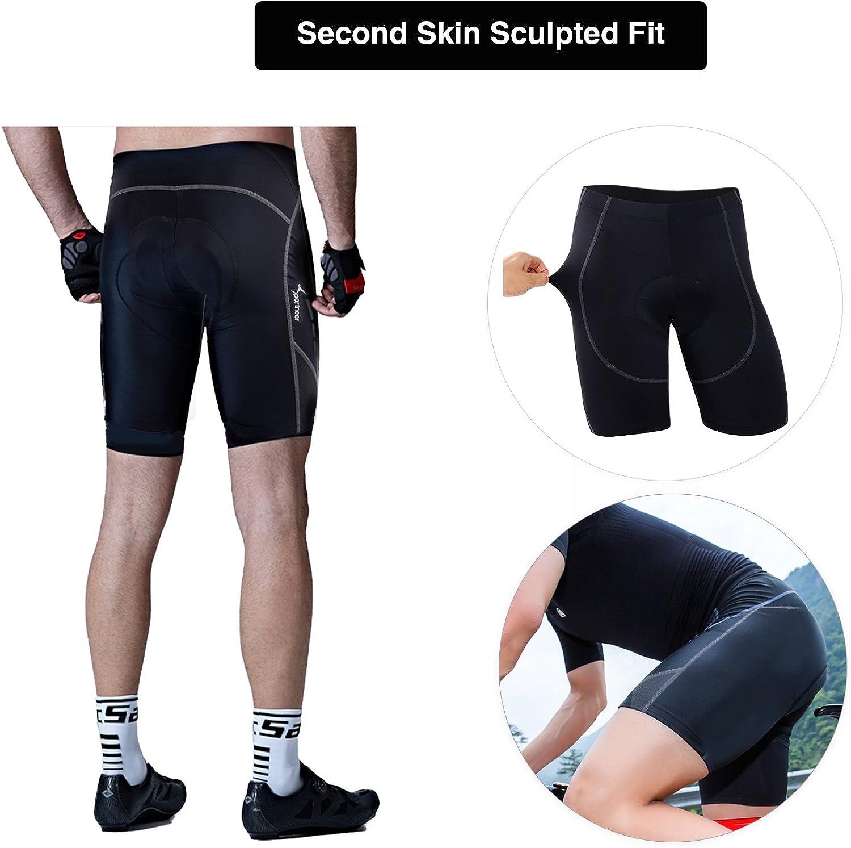 Pantalones de Ciclista Acolchados Sportneer Pantalones Cortos de Ciclismo Pantalones de compresi/ón fr/íos Pantalones de Ciclismo con Acolchado