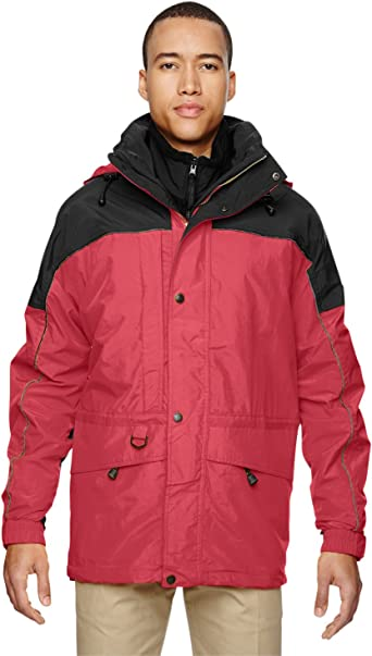 North End Mens 3-in-1 Jacket MOLTEN RED 751 3XL
