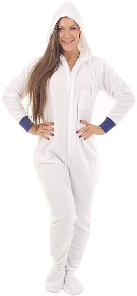 Funzee Pijama de Una Pieza Adulto Onesie Pijamas Entero con pies y con Capucha – Jumpsuit