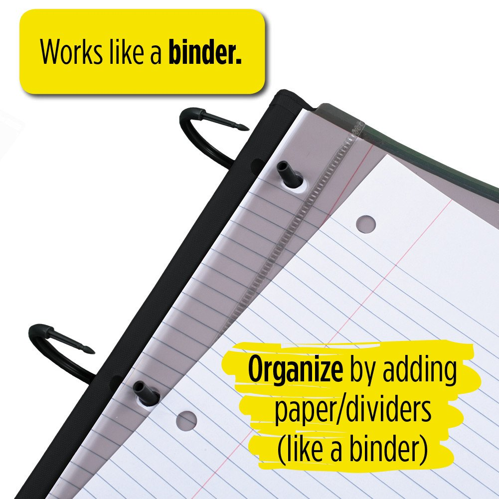 Five Star Flex Hybrid NoteBinder, 1 Inch Binder, Notebook and Binder All-in-One, Blue (72011) by Mead (Image #4)
