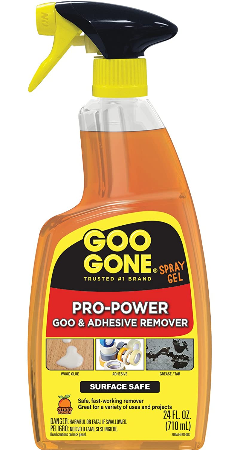 Goo Gone Pro-Power Spray Gel - Surface Safe, Great Cleaner, No Harsh Odors, Removes Stickers, Can Be Used On Tools, 24 Ounce