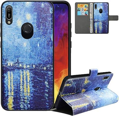 LFDZ Cover Huawei Y6 2019 con [RFID Blocco],Custodia Honor 8A Cover con Staccabile Premium PU Pelle Portafoglio,Flip Wallet con Magnetico Case per ...