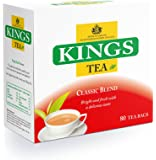 Kings Tea, Classic, (Kings Label), 400 bustine di tè, 5 scatole di 80, 2 tazze di tè