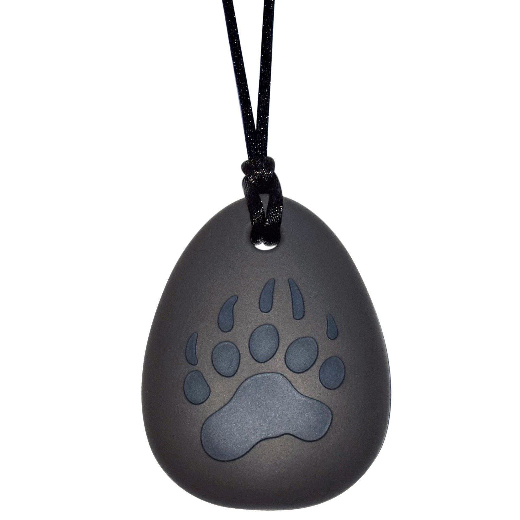 Sensory Oral Motor Aide Chewelry - Bear Paw Chew Necklace for Sensory-Focused Kids (Dark Blue)