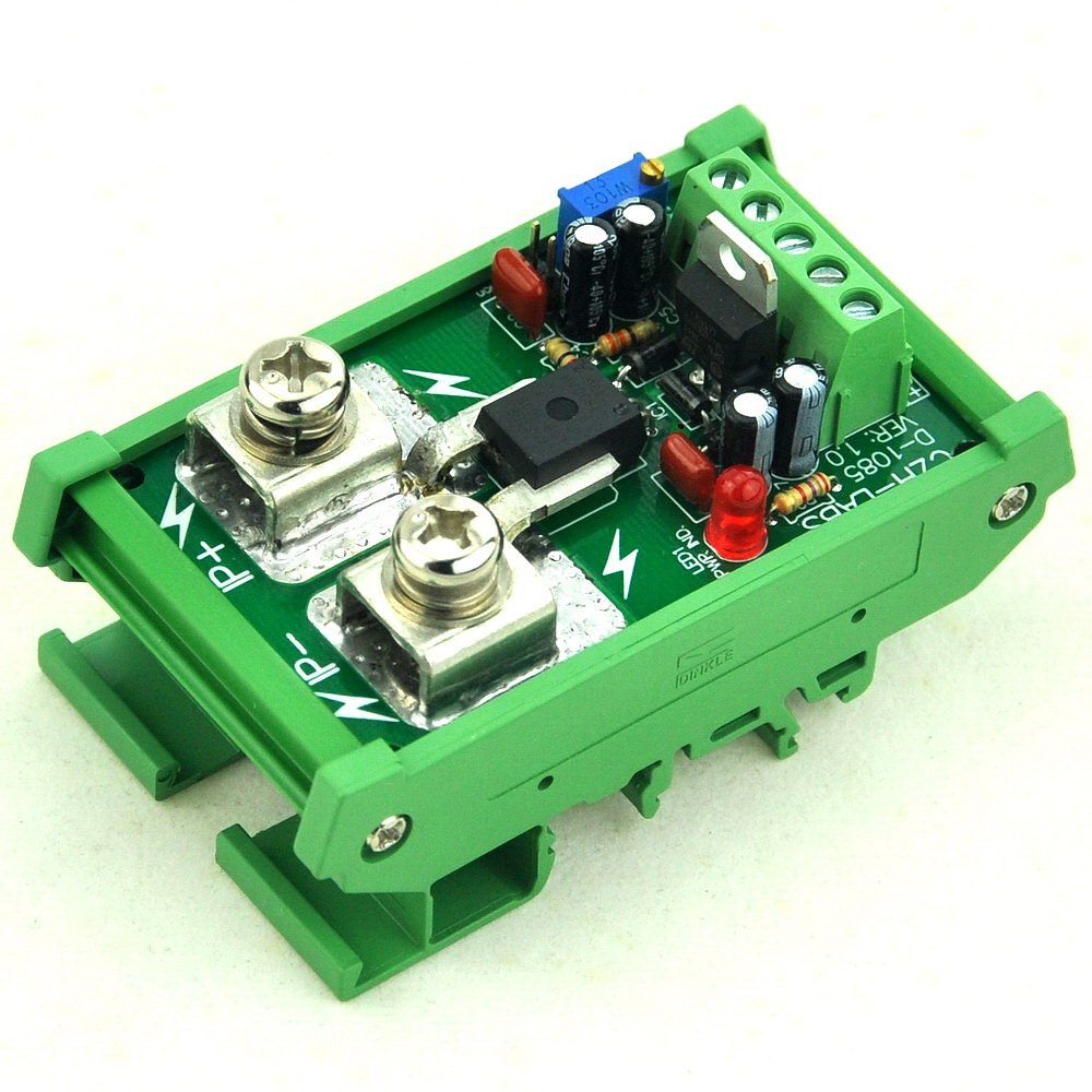 //-100Amp AC//DC Current Sensor Module based on ACS758 Electronics-Salon DIN Rail Mount
