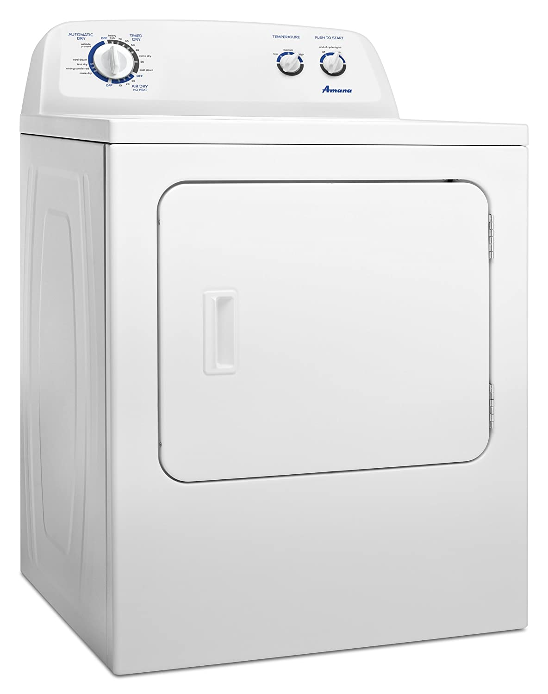 com amana cu ft traditional electric dryer com amana 7 0 cu ft traditional electric dryer interior drum light ned4700yq white appliances