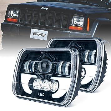 Amazon Com Xprite 5x7 Led Headlight W Drl 7100 Evolution Cree Led