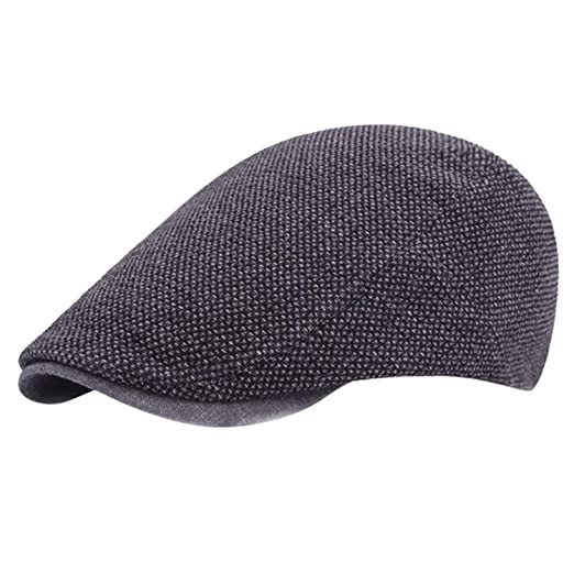 a9acfd43f99 Adjustable Beret Caps for Men Women Spring Summer Outdoor Breathable Bone  Brim Hats Herringbone Solid Sun