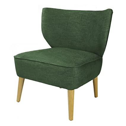 Sqaure Mid Century Modern Accent Chairs.Asense Solid Color Fabric Mid Century Modern Contemporary Armchair Accent Chair With Wooden Leg Square Seat Green