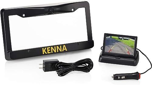 Wireless License Plate Backup Camera, 170 Angle Adjustable, 4.3 LED Monitor