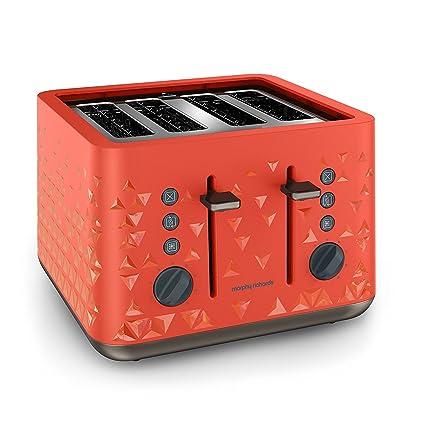 Morphy Richards Prism 4-Slice Toaster (Orange)