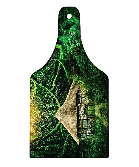 083cc46fd82a7 Amazon.com: Lunarable Fairy Tree Cutting Board, Enchanted Forest ...