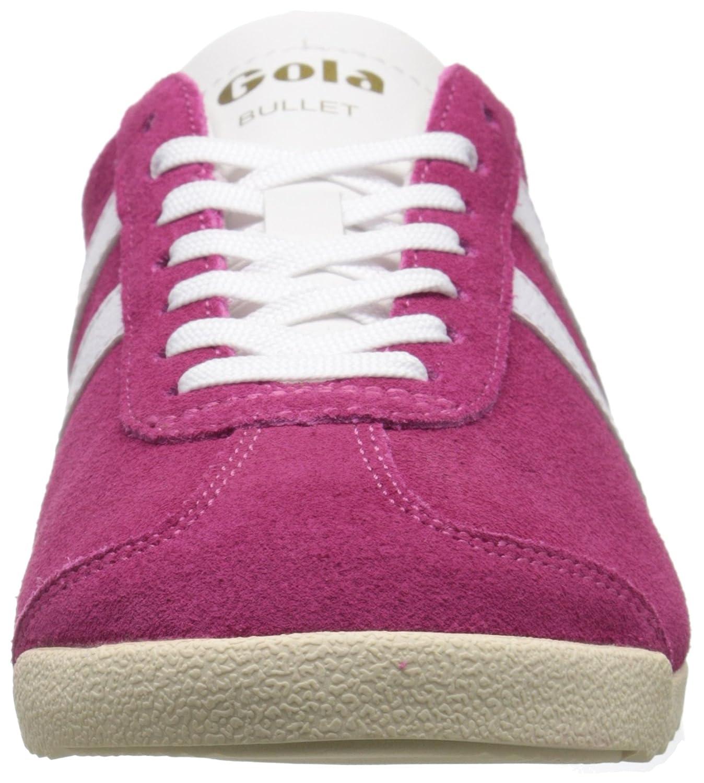 Gola Women's Bullet Suede Fashion Sneaker B015O75PLW 10 B(M) US|Hot Fuchsia/White