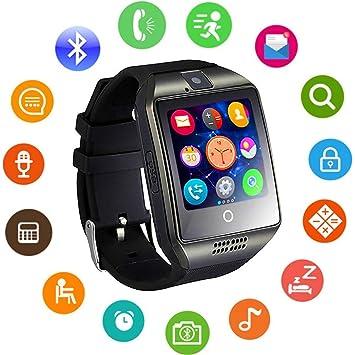 KKCF Reloj Inteligente - Smartwatch Inalámbrico Bluetooth A Prueba De Sudor Con Cámara Sleep Monitor Fitness