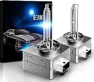 BEAMTECH D1S HID Bulbs,Xenon Headlight Replacement Bulb 35W 8000K Pack of 2