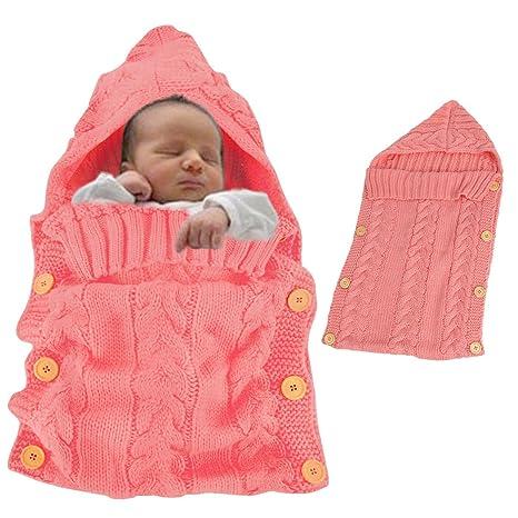 Vandot Toddler Bebé Cute Knit Manta Saco de Dormir Cálido Saco Silla de Paseo Manta Envolvente ...