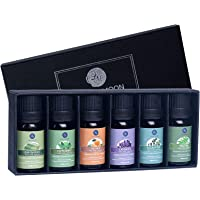 Lagunamoon Essential Oils Top 6 Gift Set Pure Essential Oils for Diffuser, Humidifier, Massage, Aromatherapy, Skin…