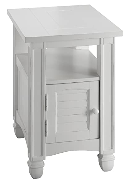 Stein World Furniture Nantucket Chair Side Table, Cottage White