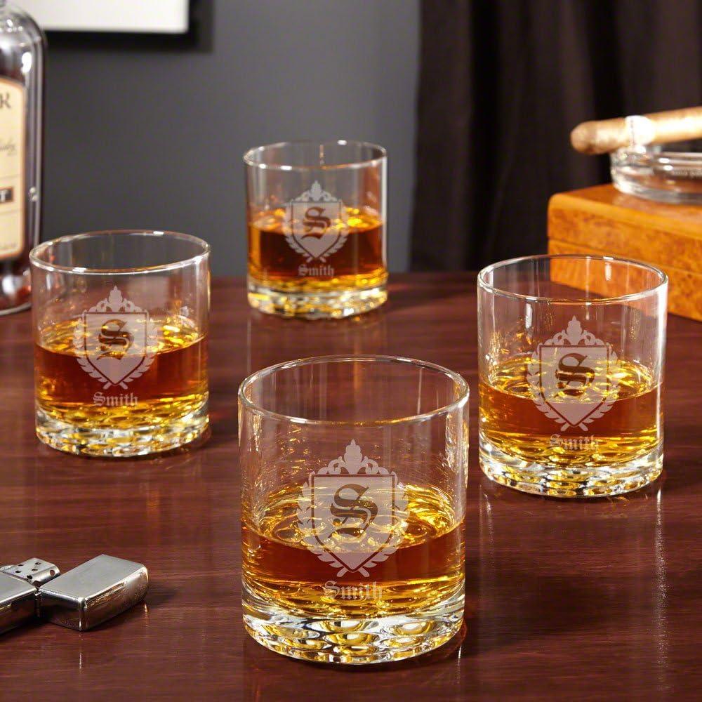Amazon Com Buckman Oxford Whiskey Glasses Set Of 4 Personalized Product Glassware Drinkware