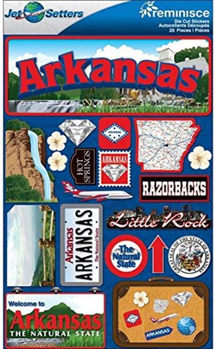 Reminisce Jet Setters 2 3-Dimensional Sticker, Arkansas