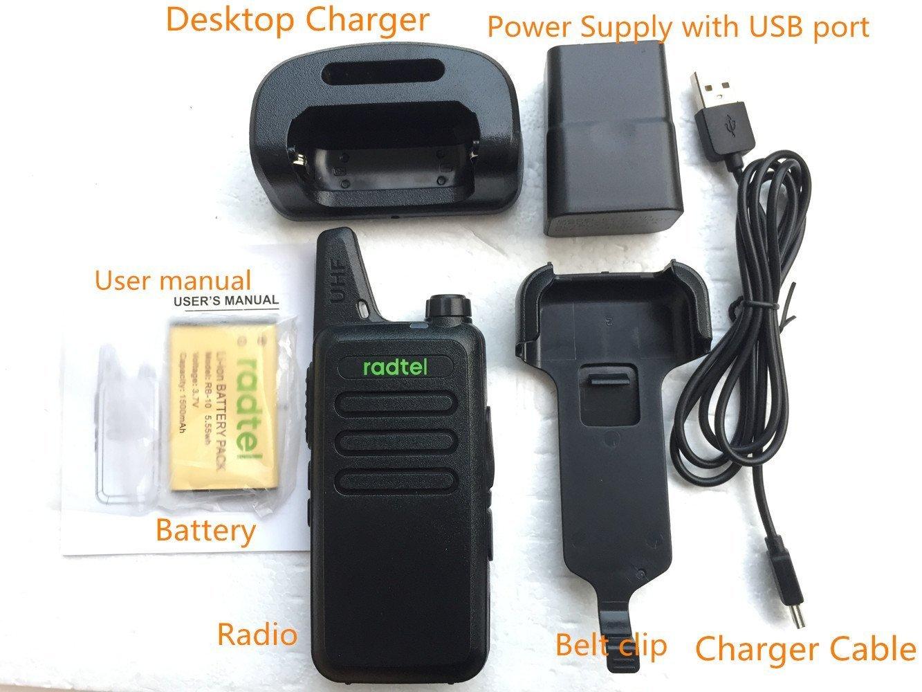 Radtel RT-10 Mini Two Way Radio UHF 400-470Mhz 3W Kid's Walkie Talkie , for Outdoor Camping Hiking Hunting Gift (10 Pack) by radtel (Image #7)