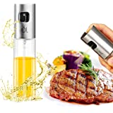 Oil Sprayer Dispenser Premium 304 Stainless Steel Grilling Olive Oil glass Bottle 100ml for Cooking /Salad /Bread Baking /BBQ/ Kitchen