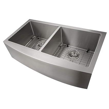 36 Inch Undermount Kitchen Sink.Zline Farmhouse Series 36 Inch Undermount Double Bowl Apron