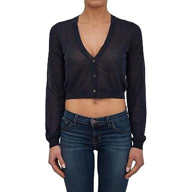 Emporio Armani Cardigan Armani Jeans Femme 3Y5E2B 5M1WZ+155N Blu ... abc75516454