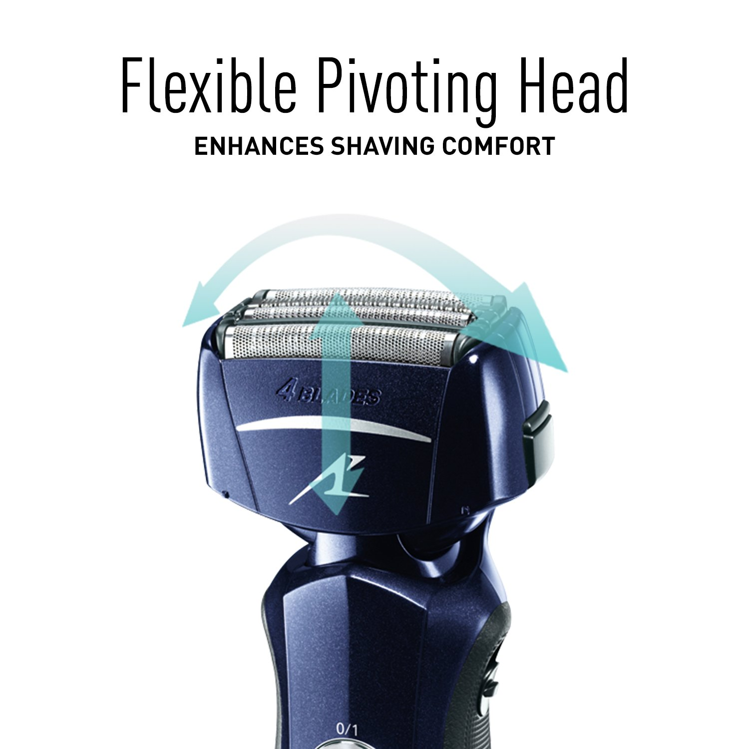 Panasonic Razor, ES-LF51-A, Men's Electric 4-Blade Cordless Shaver, Wet/Dry with Flexible Pivoting Head by Panasonic (Image #4)